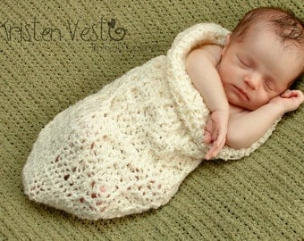 Wrinkly Crocheted Baby Cocoon 0-3 Months