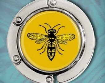 Purse Hook Bag Hanger - Vintage Bee