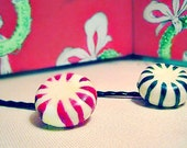 RESERVED HAIR PINS for Shahla Shamir  - Holiday Peppermint Candies