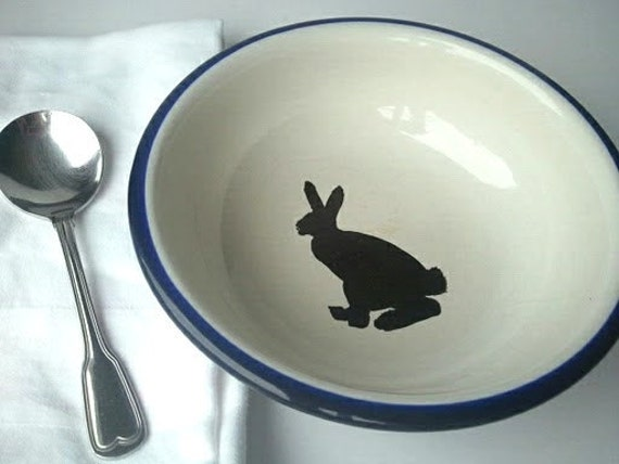 RESERVED CERAMIC - There's a Hare in My Soup