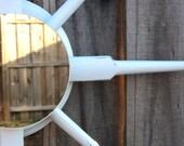 Reclaimed GLOSS WHITE Starburst Mirror / Wall Art