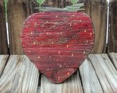 Primitive Wooden Strawberry, Shelf Sitter, Farmhouse Decor