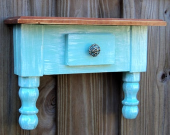 Table Wall Shelf, Beach-Y Cottage Style, Wall Art