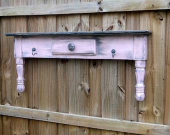 Country Storage, Primitive Farmhouse Style Display Shelf , Rustic Towel Bar Or Coat Rack