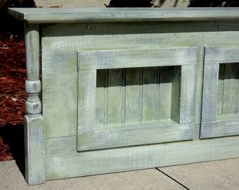 Wall Mounted Headboard, Mantle Shelf, Rustic Furniture, Farmhouse Furniture