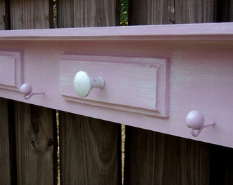 Clothes, Coat Or Towel Rack, Large Shabby Cottage Style Display Shelf, Mantle, Farm House Chic