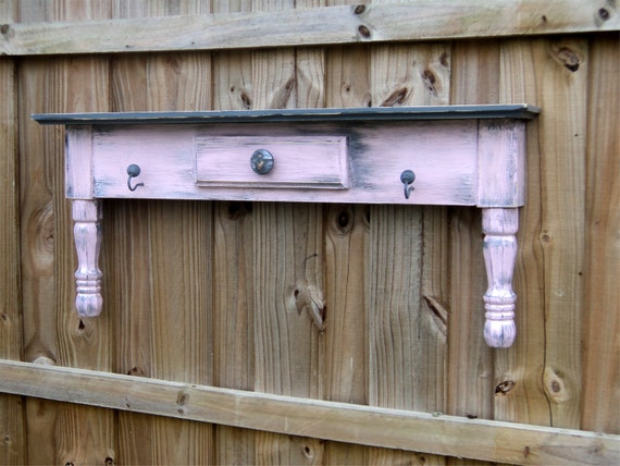 Country Storage, Primitive Farmhouse Style Display Shelf , Rustic Towel Bar Or Coat Rack, YOU CHOOSE COLOR
