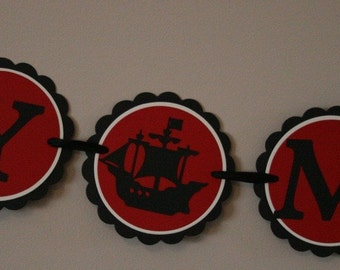Ahoy Matey Pirate Ship Banner