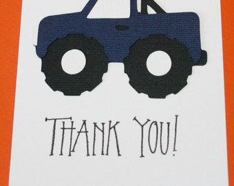 Monster Truck Thank you cards