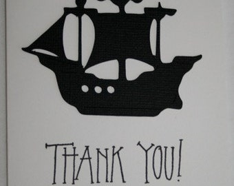 Pirate ship Thank you cards