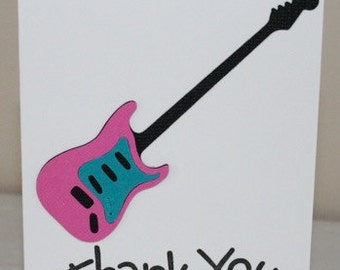 Guitars Thank you cards