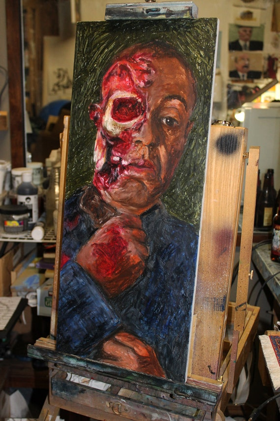 The End of Gustavo Fring from Breaking Bad - Oil on Panel
