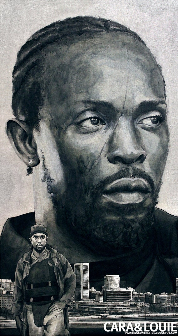 Omar Little from The Wire - an original painting on canvas