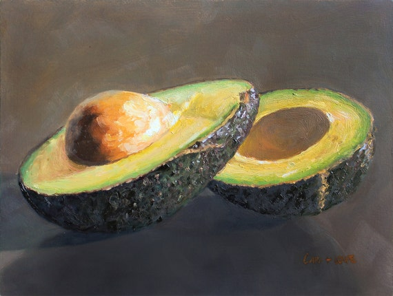 Avocado Oil Painting - signed by the artists