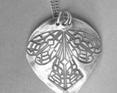 Angel Wings Fine Silver Pendant Eco Friendly Jewelry
