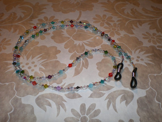 Simple Pleasures Swarovski shades eyeglass chain