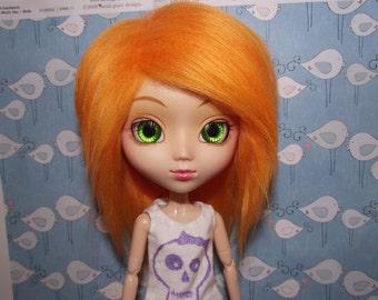A cute bright orange faux fur wig hair for Pullip/Taeyang