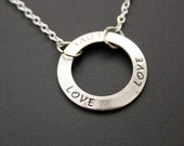Love Affirmation Pendant Necklace Silver