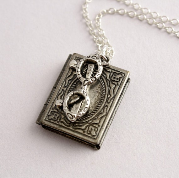Book Worm - A Book Locket Necklace