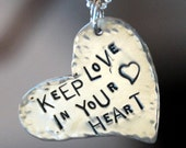 Keep Love in Your Heart- Sterling Silver