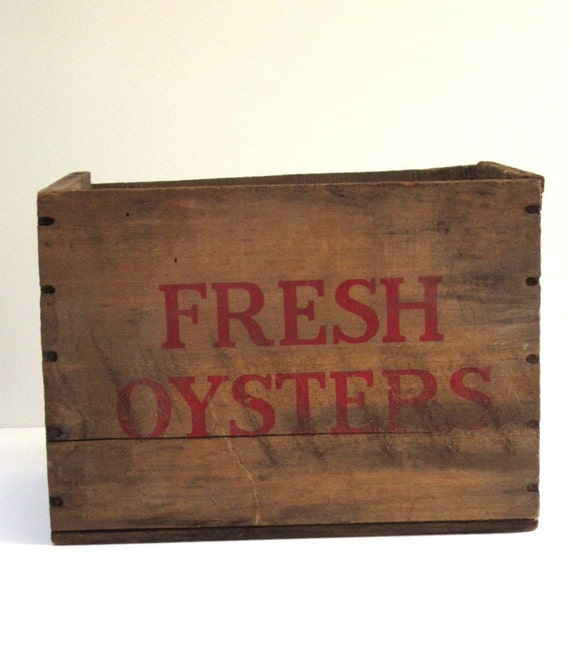 Vintage Wooden Oyster Crate Box from Baltimore