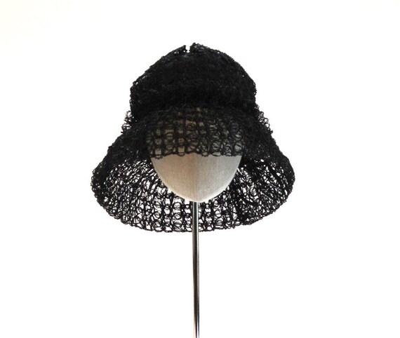 Vintage Black Hat by Patrice
