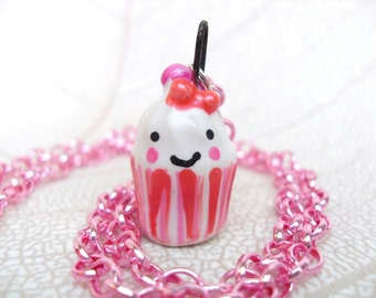 Smiley Porcelain Cupcake Charm ...Kawaii