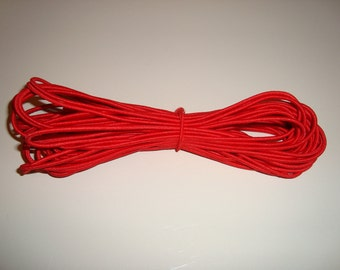 10 Yds. Red Elastic Cording 2mm Round Cord 10 Yards