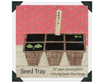 Seed Tray Paper Pieced Pattern