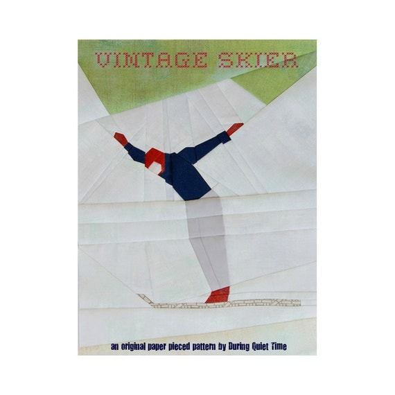Vintage Skier Paper Pieced Pattern