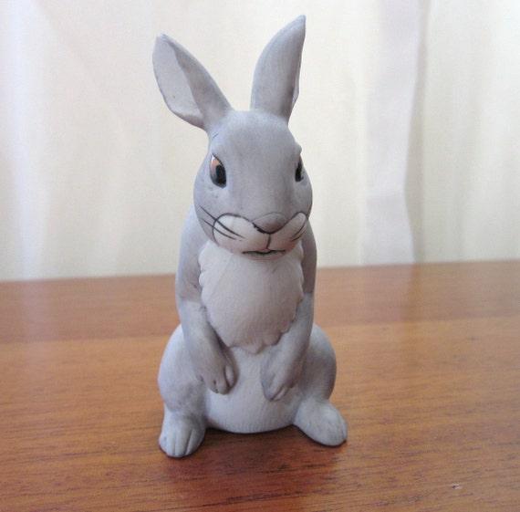 Watership Down Silver Figurine Bunny Rabbit 1980s