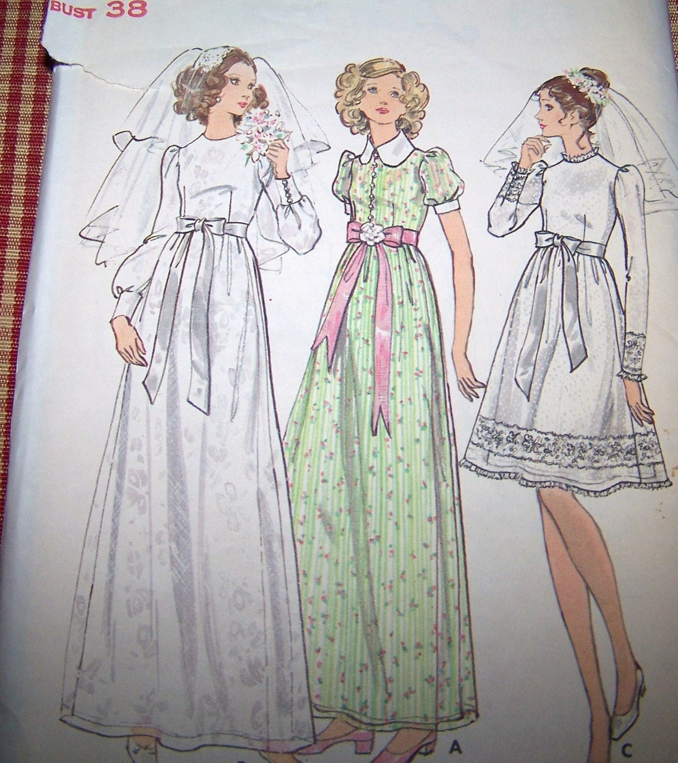 70s butterick 6669 bridal gown pattern wedding by slovintage Butterick wedding dress patterns