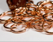 12g 12.0 mm ID 16.2 mm OD copper jump rings -- 12g12.00 open jumprings jewelry supplies findings links