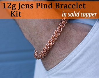 THICK 12g Jens Pind Bracelet Chainmaille Kit in Copper