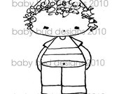 ASHTON BABY BUD Digital Stamp