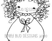 """Digital Image Download """"Krissy"""" Baby Bud"""