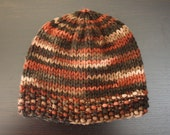 Sale - Fall Leaves Knitted Hat - READY TO SHIP