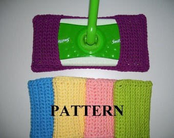 PDF Pattern  - Crocheted Reusable Swiffer Cover