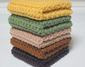 Cotton Wash Cloths, Set of 5