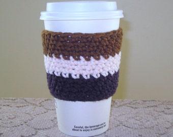 Crocheted Coffee Cozy