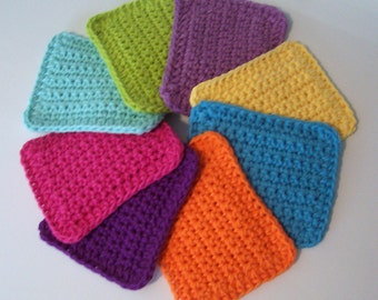 Cotton Crocheted Sponges / Set of 4 / Choose Your Colors