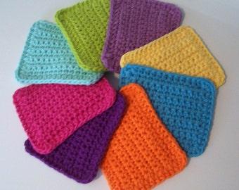 Cotton Crocheted Sponges / Set of 4 / Choose Your Colors