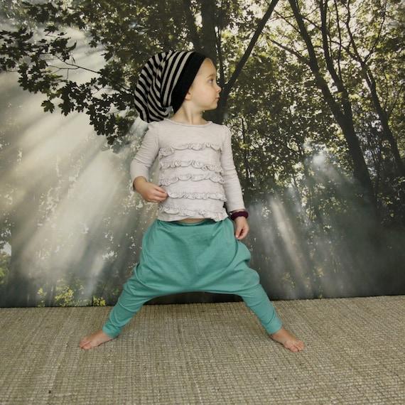 Minty Green Toddler Harem Pants