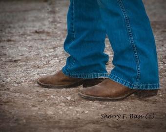 BOOTS & JEANS, Original Fine Art Photography, Western Decor, Farm theme,