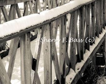 Snow Bridge Matted 5x7 Photograph