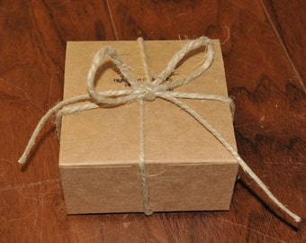 Gift Box for COASTERS with Natural Twine included
