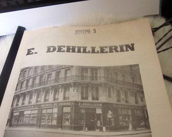 DEHILLERIN Copper Pot Pan Saucepan Paris France chocolate mold vintage catalog E. Dehillerin