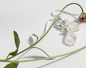 Earrings - Wire Wrapped Leaf Bead
