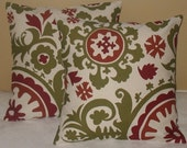 New SALE   two   18 x 18 Pillow Covers Suzani Autumn Natura