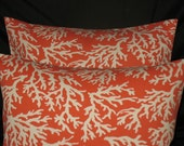 New Two   Pillow Covers Indoor/outdoor Faylinn Coral